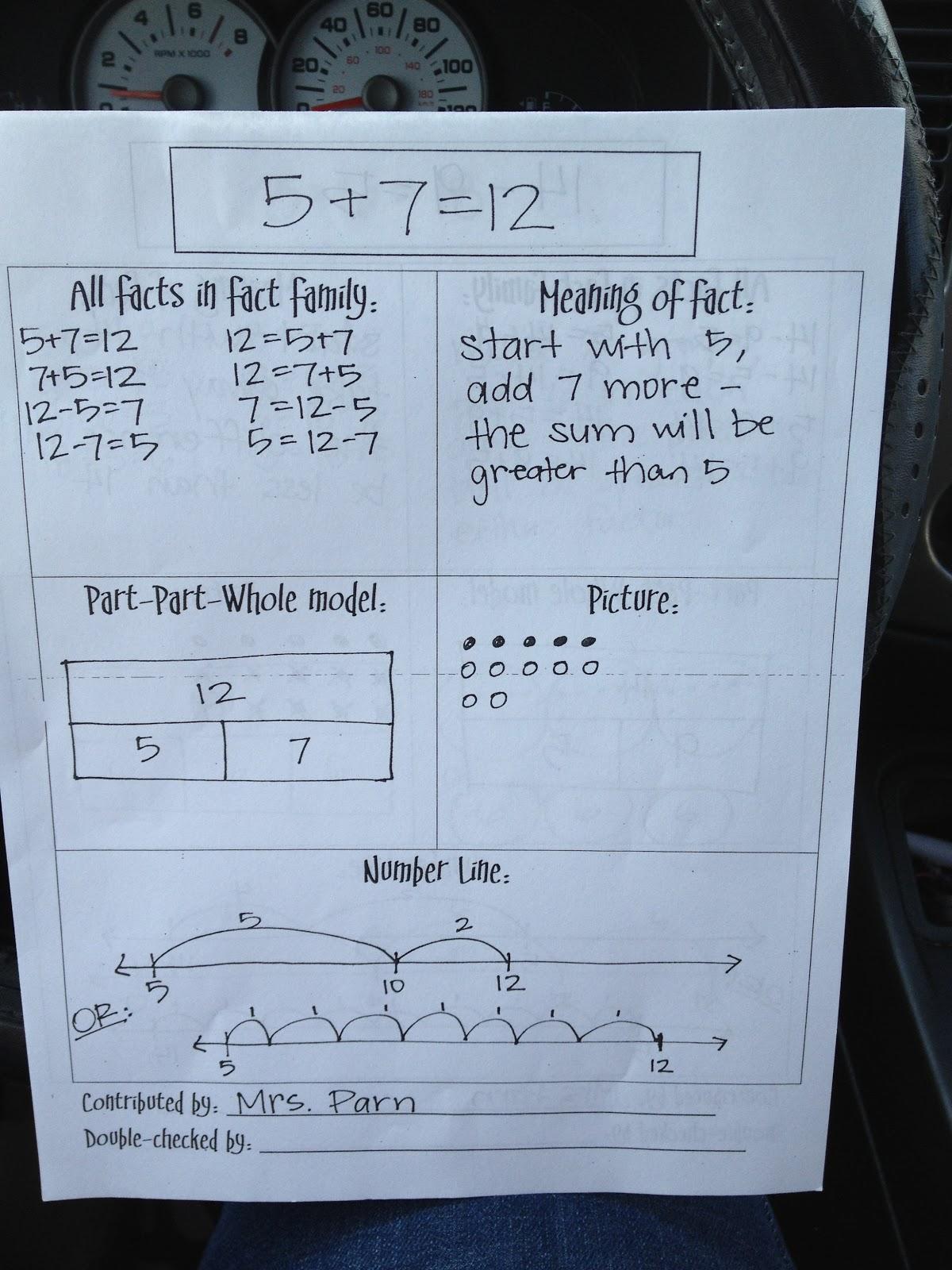 3 Teacher Chicks Amazing Math Facts Idea I Learned