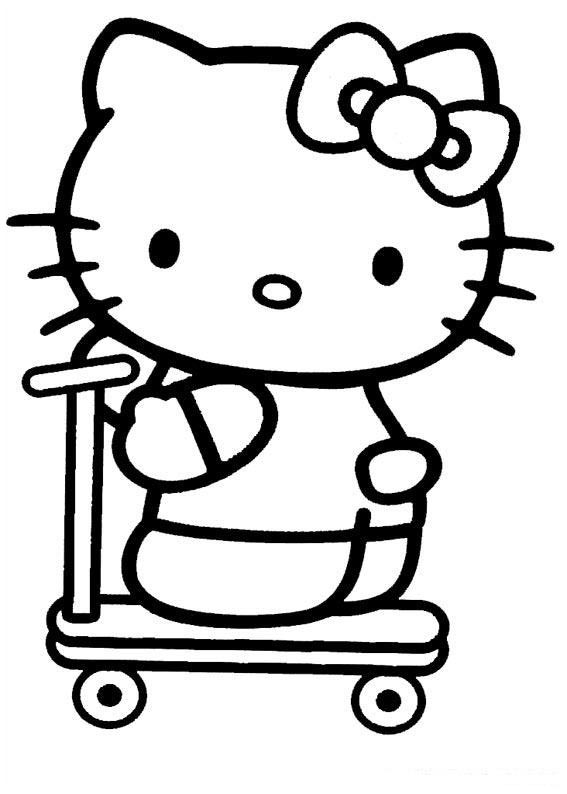 Hello Kitty Coloring Pages - Lets coloring!