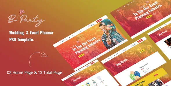 Best Wedding & Event Planner PSD Template