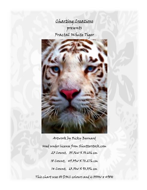 Charting Creations Fractal White Tiger
