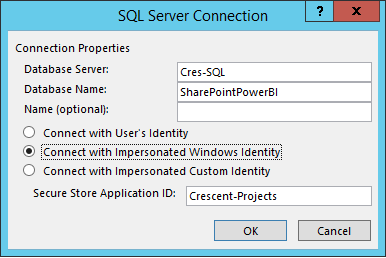 sharepoint 2013 bcs connect to sql server