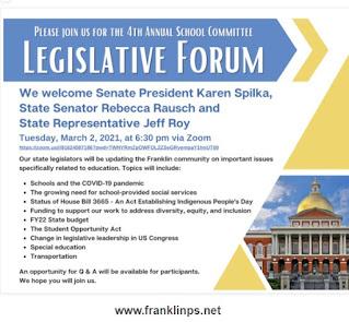 School Committee Legislative Forum - March 2