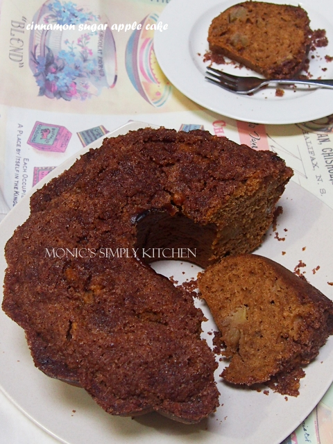 resep cinnamon sugar apple cake