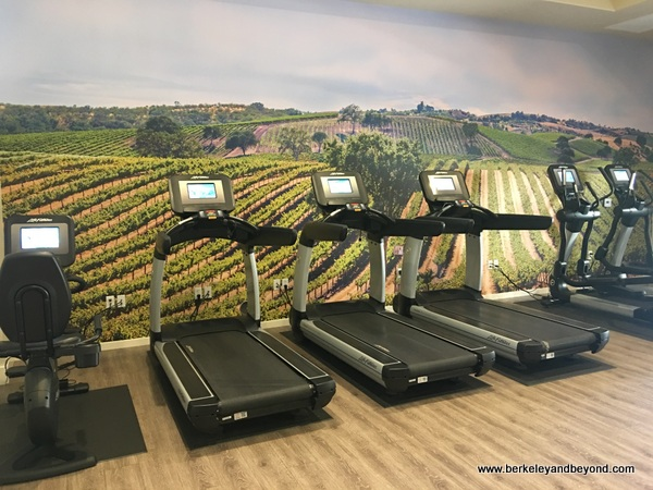 fitness room at Allegretto Vineyard Resort in Paso Robles, California