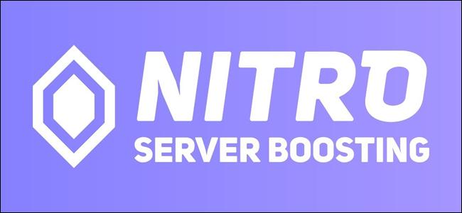 شعار Discord Nitro Server Boosting.
