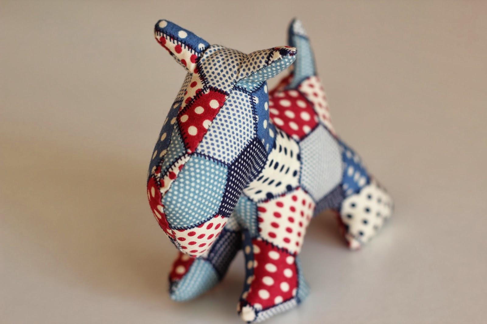 Mi hogar de patchwork perro chipie de patchwork - Patrones de cabezas de animales de tela ...