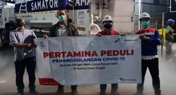 PGN Salurkan Bantuan Oksigen Medis Hadapi Covid-19 di Jateng, DIY dan Jakarta