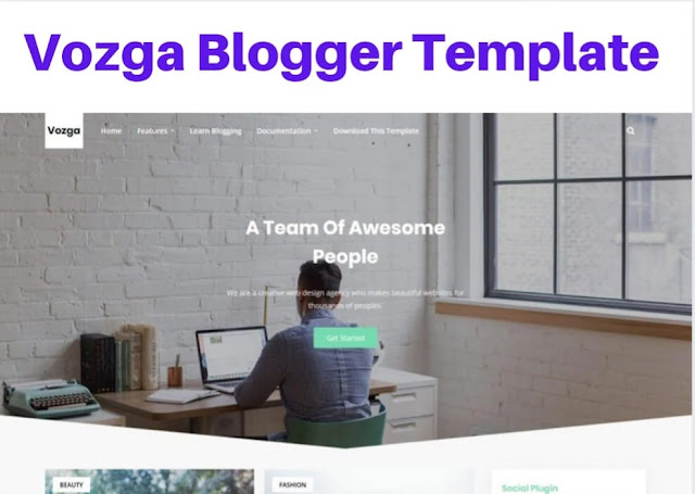 vozga blogger template, bootstrap blogger templates free download, bootstrap