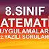 8.sınıf Matematik Uygulamaları 2.yazılı soruları