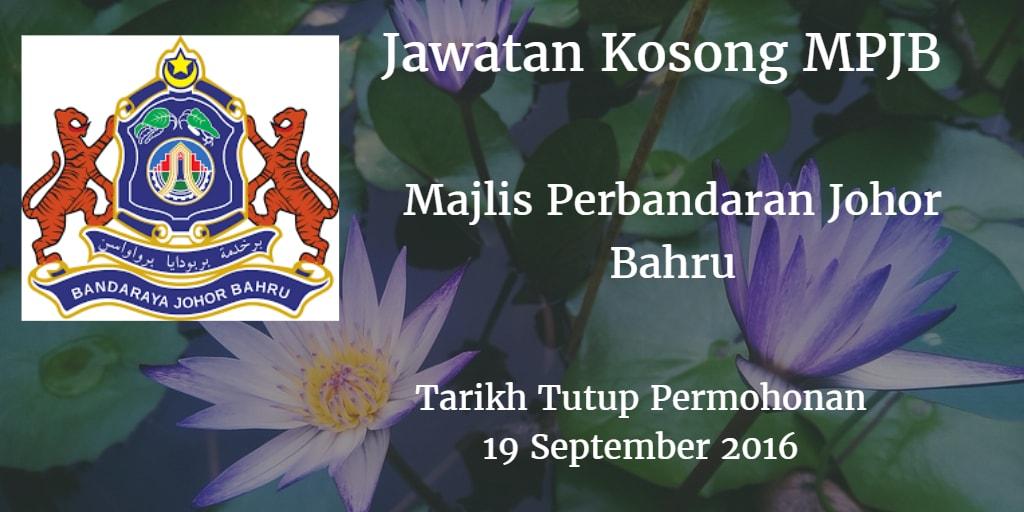 Jawatan Kosong MPJB 19 September 2016