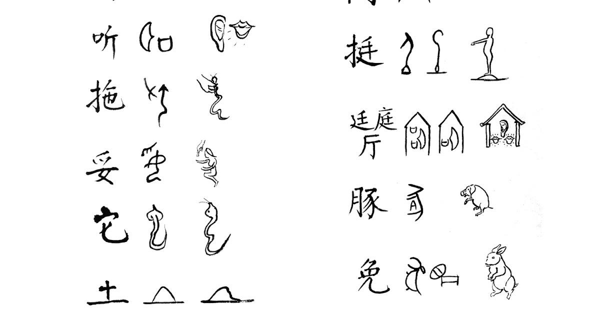 Decoding Chinese -- Jiaguwen 解碼中文-甲骨文 中國樂山汪嵐: 甲骨文的四種密碼符號-37 Four Oracle password symbol -37