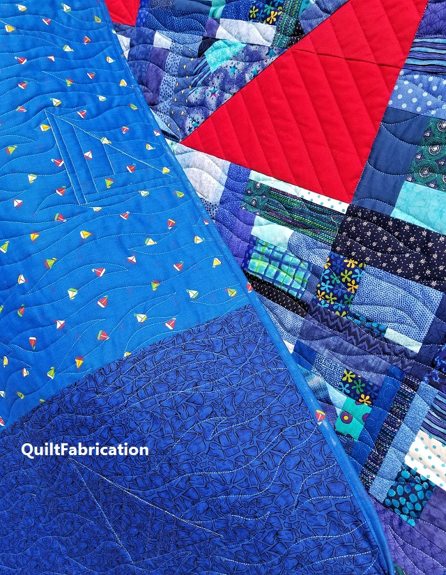 Regatta quilt backing