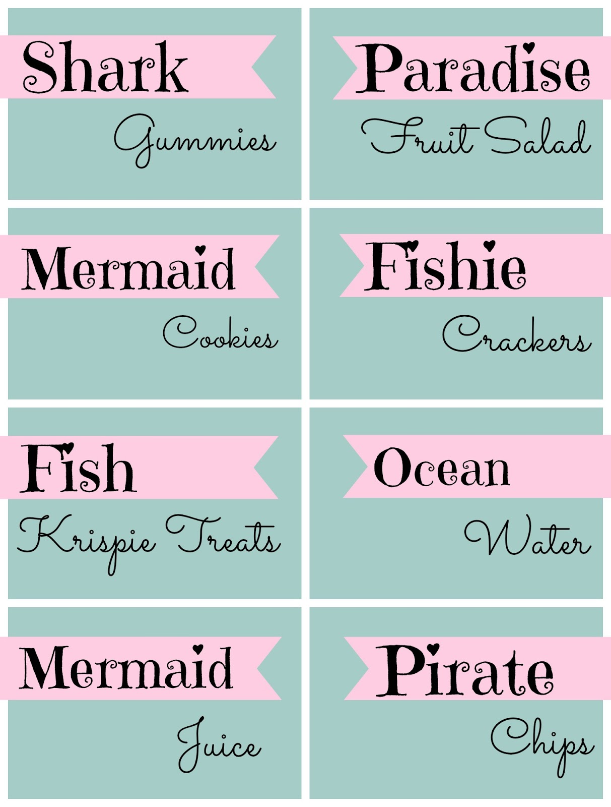 Mermaid Under The Sea 4th Birthday Party With Free Printable