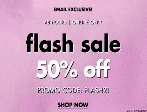 Forever 21 Flash Sale 50% Off Promo Code