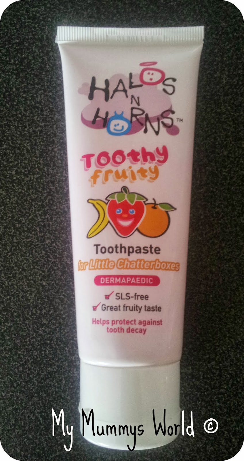 Halos N Horns Toothy Fruity Toothpaste. My Mummys World