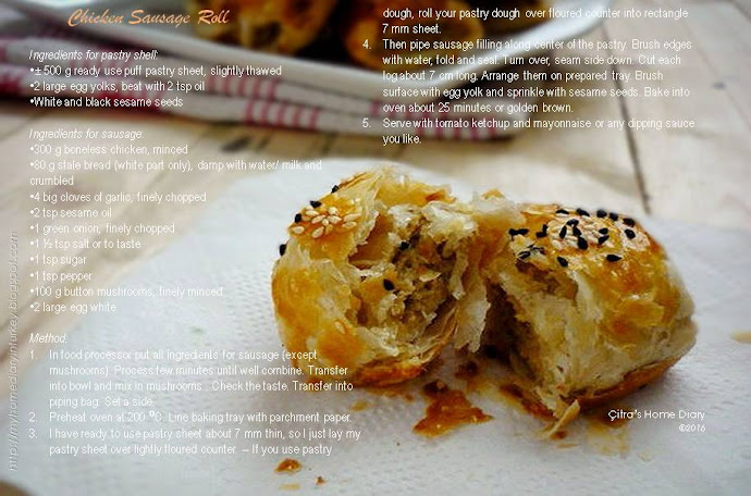 Chicken Sausage Roll | Çitra's Home Diary #sausageroll #chickenrecipe #lunchboxidea #pastryroll #asianstylesausageroll #pastryrecipe