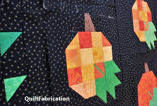 pumpkin quilt by QuiltFabrication