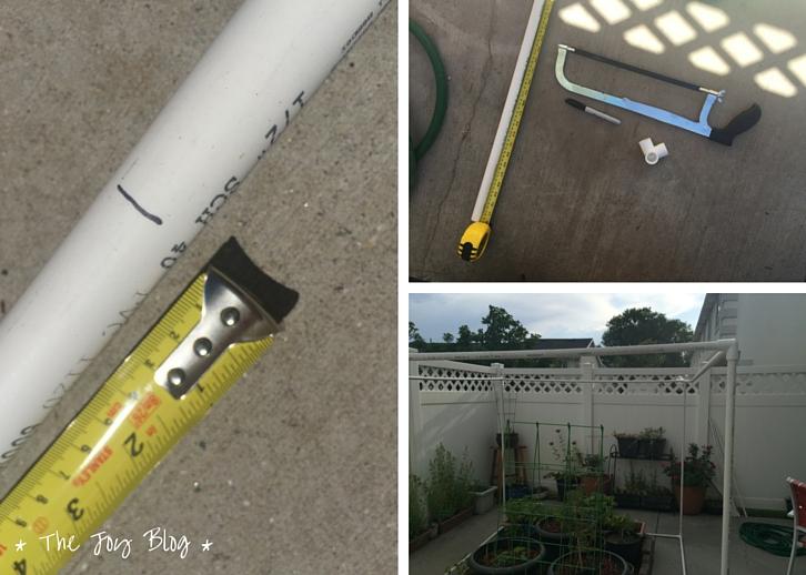 DIY Garden Shade Canopy // WWW.THEJOYBLOG.NET