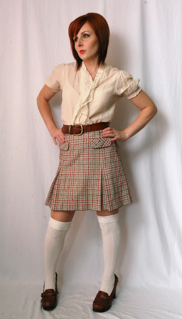 thrift and shout cute outfit of the day it's plaid skirt