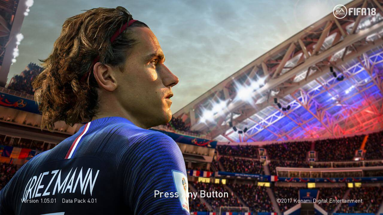 Griezmann WC 2018 Start Screen PES 2018