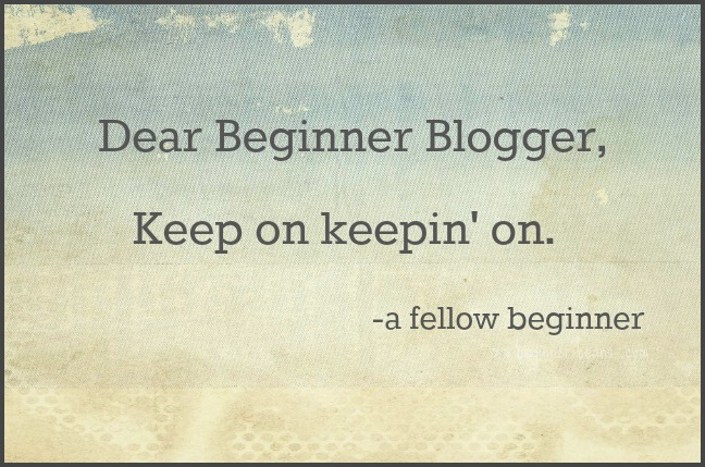 dear beginner blogger