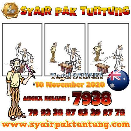 Syair Pak Tuntung Sydney Selasa 10 November 2020
