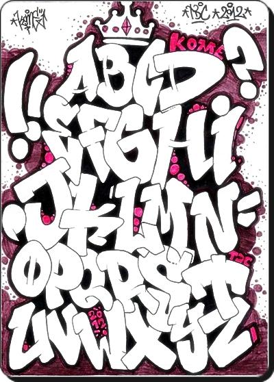 graffitialphabet zeichnen von graffitibuchstaben abc