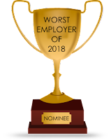 "The 16th nominee for the ""worst employer of 2018"" is … the sexist, racist, xenophobic, oh my!"