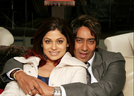 Ajay Devgan and Shamita shetty