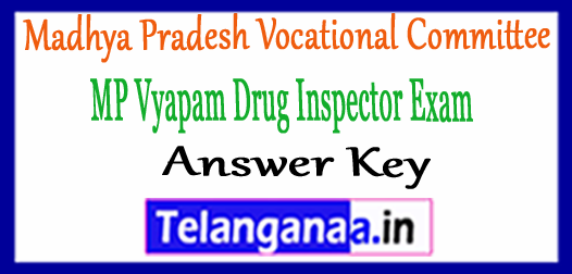 MP Vyapam Drug Inspector Answer Key 2018 Download