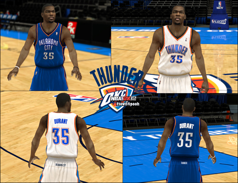 free shipping 53ee2 ab8c4 NBA 2K12 OKC Thunder HD Jersey Patch - Finals