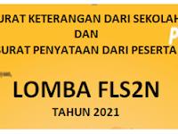 Surat Keterangan Sekolah Dan Peserta Lomba FLS2N 2021