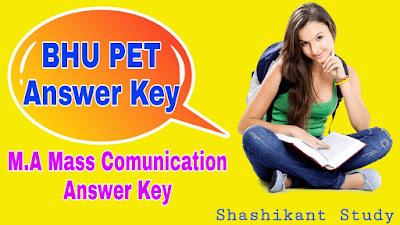 BHU-M.A-Mass-Comunication-Answer-Key