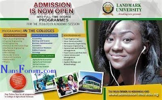 Landmark University Post-UTME Screening For 2018/2019 Academic Session Announced