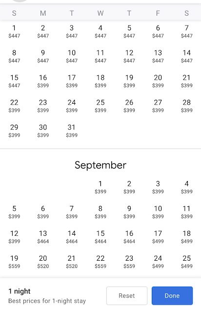 Use Google Hotel to Search Hyatt Flexible Date For Points & Cash Rate