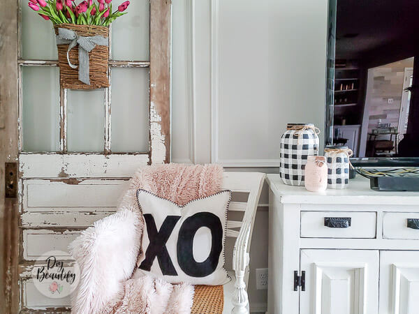 neutral Valentines decor