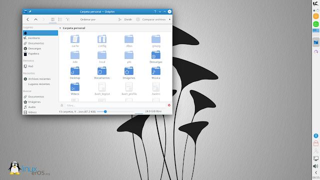 KaOS Linux 2020.09 Disponible con KDE Plasma 5.19.5 y Calamares - Dolphin