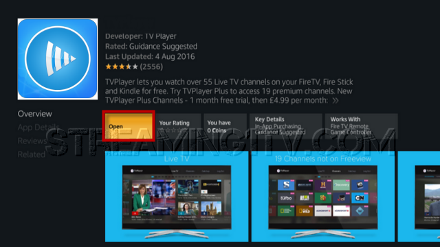 download live stream player on firestick