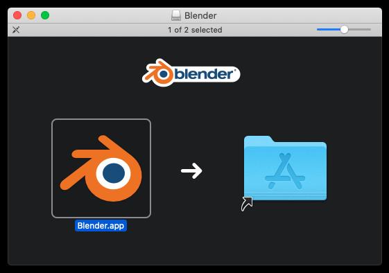 Blender Install Screen for macOS