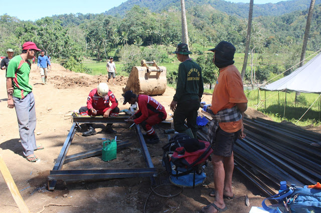 Masyarakat Sambut Baik Pekerjaan Jembatan Satgas TMMD 105 Kodim 1424/Sinjai
