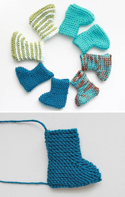 Easy Newborn Baby Booties - Free Knitting Pattern