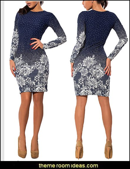 Women's Casual/Daily Work Sexy Simple Sheath Dress,Solid Print Round Neck Mini Above Knee Long Sleeve Polyester All Seasons