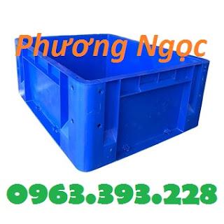 Thùng nhựa đặc có lỗ, thùng nhựa kích thước 480 x 380 x 200 mm, thùng nhựa Thung-nhua-dac-hs001-480x380x200_result