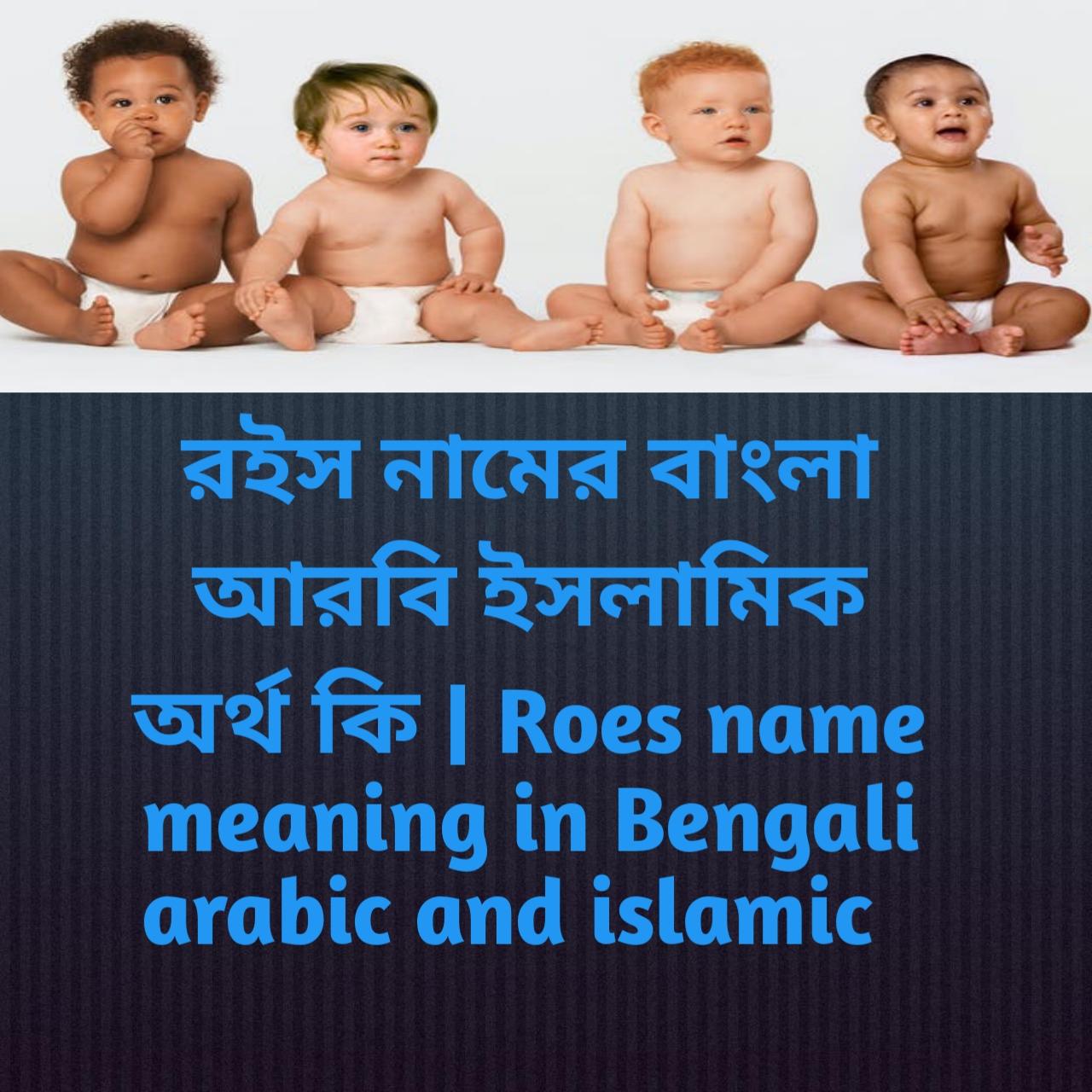 রইস নামের অর্থ কি, রইস নামের বাংলা অর্থ কি, রইস নামের ইসলামিক অর্থ কি, Roes name meaning in Bengali, রইস কি ইসলামিক নাম,