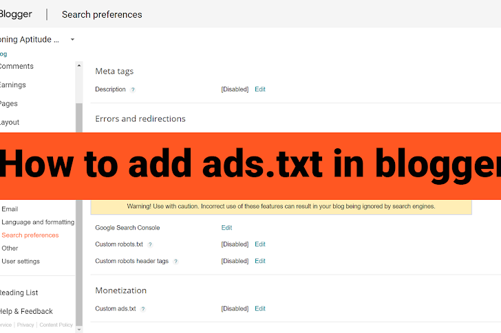 How to Add ads.txt in Blogger Site