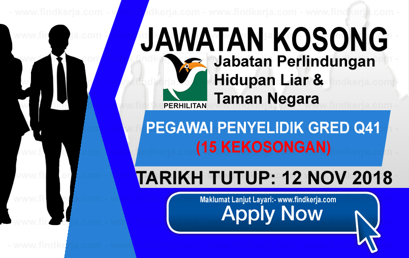 Jawatan Kerja Kosong Jabatan Perlindungan Hidupan Liar & Taman Negara logo www.ohjob.info www.findkerja.com november 2018