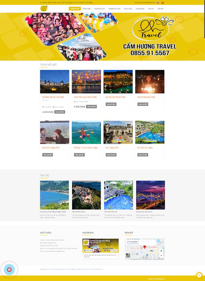 Mẫu website du lịch giá rẻ