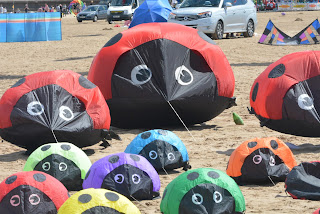 nature, kite festival, ladybird, beach, sand, sun, holiday, blackpool, st annes, lytham, music
