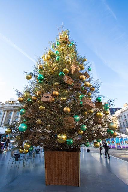 Albero di Natale alla Somerset house-Londra