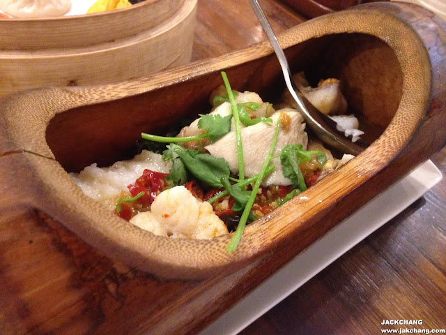 竹筒剁椒蒸魚片